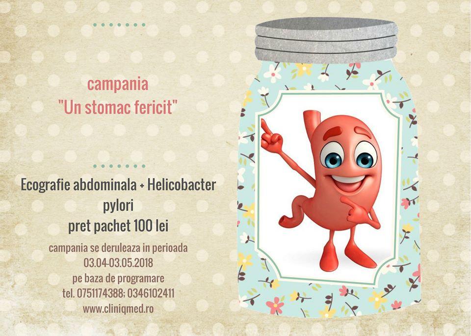 Cliniqmed Consult, campanai Un stomac fericit, Helicobacter pylori